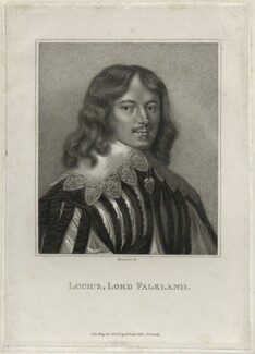 Lucius Cary, 2nd Viscount Falkland, by E. Bocquet, published by  John Scott, after  Sir Anthony van Dyck - NPG D26673