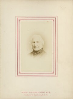 Sir Edward Sabine, by George Charles Wallich, published by  John Van Voorst, published 1870 - NPG Ax14780 - © National Portrait Gallery, London