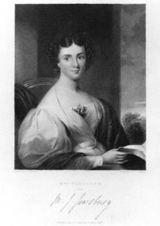 Maria Jane Jewsbury (Mrs Fletcher), by John Cochran, published by  Fisher Son & Co, after  G. Freeman - NPG D9094