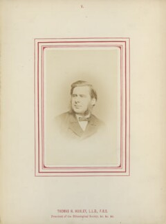 Thomas Henry Huxley, by George Charles Wallich, published by  John Van Voorst, published 1870 - NPG Ax14783 - © National Portrait Gallery, London