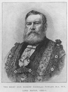 Sir Robert Fowler, 1st Bt, after Unknown artist - NPG D9095