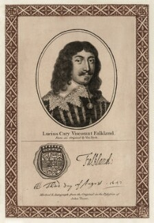 Lucius Cary, 2nd Viscount Falkland, after Sir Anthony van Dyck, published by  John Thane - NPG D26678