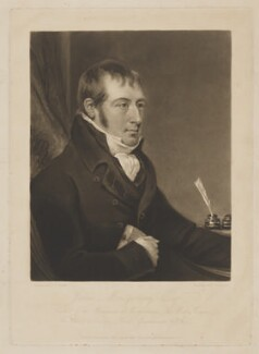 James Montgomery, by Charles Turner, published by  Rodwell & Martin, after  John Raphael Smith - NPG D9097