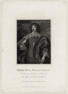 William Villiers, 2nd Viscount Grandison, by Charles Picart, after  Sir Anthony van Dyck - NPG D26694
