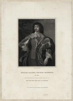 William Villiers, 2nd Viscount Grandison, by Henry Richard Cook, after  Sir Anthony van Dyck - NPG D26695