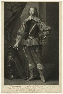 John Chaworth, 2nd Viscount Chaworth, by Pieter Stevens van Gunst, after  Sir Anthony van Dyck - NPG D26696