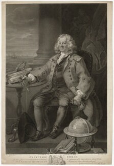Thomas Coram, by William Nutter, after  William Hogarth - NPG D9102
