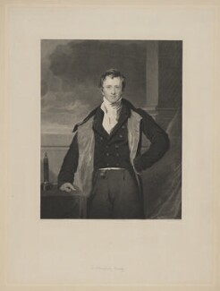 Sir Humphry Davy, Bt, by G.R. Newton, after  Sir Thomas Lawrence, published 1830 - NPG D9103 - © National Portrait Gallery, London