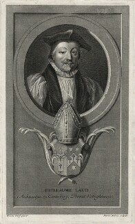 William Laud, by Benoit Audran the Elder, after  Adriaen van der Werff - NPG D26706