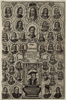 The Frontispiece to Winstanley's ''Loyall Martyrology'', 1665, after Unknown artist - NPG D26783