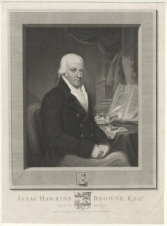 Isaac Hawkins Browne, by James Fittler, after  Unknown artist, 1818 or after - NPG D32235 - © National Portrait Gallery, London