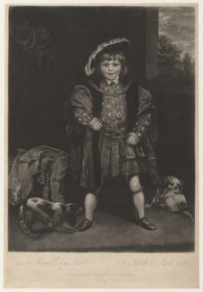 John Crewe, 2nd Baron Crewe, by John Raphael Smith, after  Sir Joshua Reynolds, published 1776 (circa 1775) - NPG D32251 - © National Portrait Gallery, London