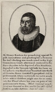 Henry Burton, by Wenceslaus Hollar - NPG D26838