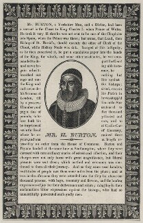 Henry Burton, after Wenceslaus Hollar - NPG D26839