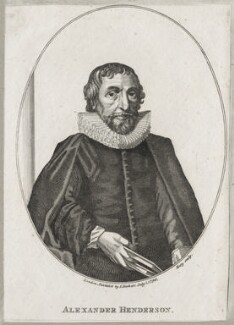 Alexander Henderson, after Wenceslaus Hollar, published by  Isaac Herbert - NPG D26869