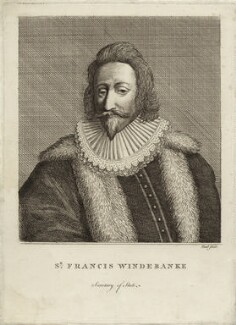 Sir Francis Windebank, by P. or S. Paul (Samuel de Wilde?) - NPG D26904