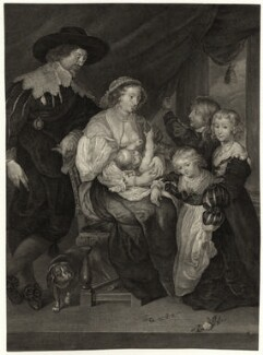 Sir Balthazar Gerbier and family, after Unknown artist - NPG D26908