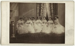 The bridesmaids of Alexandra of Denmark, by Unknown photographer - NPG x33255