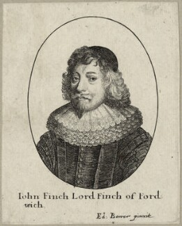 John Finch, Lord Finch of Fordwich, by Wenceslaus Hollar, after  Edward Bower - NPG D26940