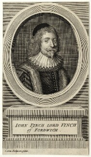 John Finch, Lord Finch of Fordwich, by George Vertue, possibly after  Edward Bower - NPG D26941