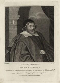 Sir John Glanville, by R. Clamp - NPG D26964