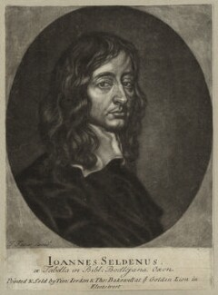 John Selden, by John Faber Jr, printed and sold by  Timothy Jordan, printed and sold by  Thomas Bakewell - NPG D26975