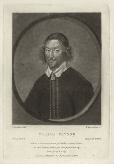 William Prynne, by Robert Dunkarton, after  Samuel Woodforde, published by  Samuel Woodburn - NPG D26982
