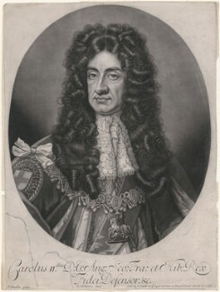 King Charles II, by Robert Williams, after  Sir Godfrey Kneller, Bt - NPG D9117
