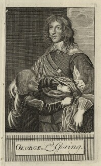 George Goring, Baron Goring, by Michael Vandergucht, after  Sir Anthony van Dyck - NPG D26994