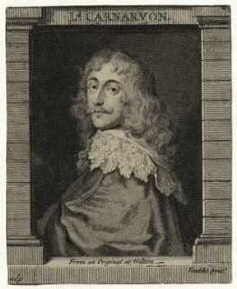 Robert Dormer, 1st Earl of Carnarvon, by George Vertue, after  Sir Anthony van Dyck - NPG D27001