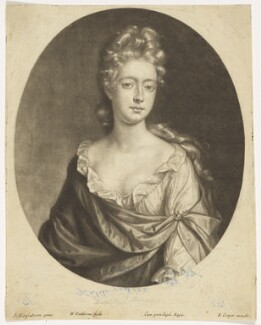 Sophia Dorothea of Celle, by William Faithorne Jr, after  Johann Kerseboom - NPG D9125