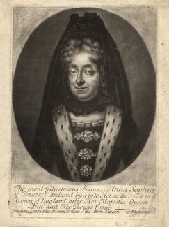 Princess Sophia, Electress of Hanover, by William Faithorne Jr - NPG D9137