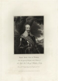 Robert Bertie, 1st Earl of Lindsey, by Edward Scriven, after  Sir Anthony van Dyck - NPG D27025