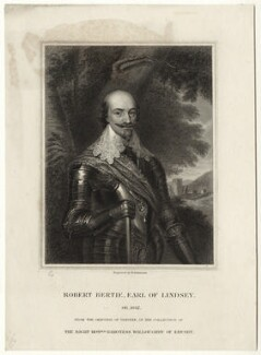 Robert Bertie, 1st Earl of Lindsey, by John Henry Robinson, after  Sir Anthony van Dyck - NPG D27029