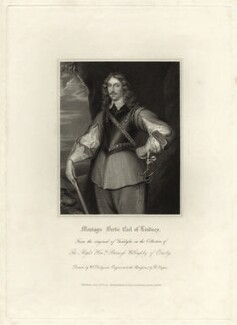 Montague Bertie, 2nd Earl of Lindsey, by Robert Cooper, published by  Harding, Triphook & Lepard, after  William Derby, after  Sir Anthony van Dyck - NPG D27033