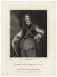Montague Bertie, 2nd Earl of Lindsey, by William Finden, after  Sir Anthony van Dyck - NPG D27037