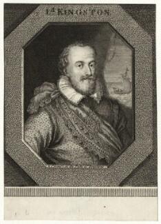 Robert Pierrepont (Pierrepoint), 1st Earl of Kingston-upon-Hull, by George Vertue - NPG D27041