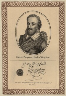Robert Pierrepont (Pierrepoint), 1st Earl of Kingston-upon-Hull, after Unknown artist, published by  John Thane - NPG D27043