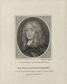 Sir William Mainwaring, by Schenecker, published by  Edward Harding - NPG D27050