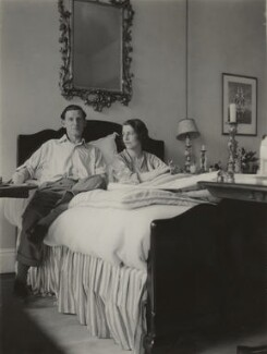 Siegfried Sassoon; Hester Sassoon (née Gatty), by Unknown photographer - NPG x46006