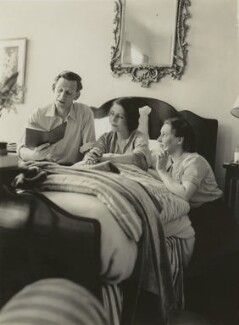 Siegfried Sassoon; Hester Sassoon (née Gatty) and an unknown woman, by Unknown photographer - NPG x46007