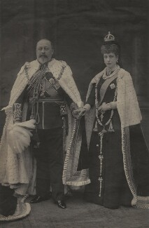 King Edward VII; Queen Alexandra, by William Edward Downey, for  W. & D. Downey - NPG x25240