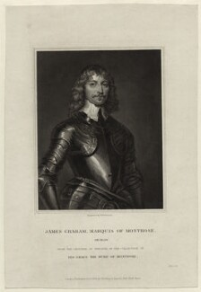 James Graham, 1st Marquess of Montrose, by John Henry Robinson, published by  Harding & Lepard, after  William Dobson - NPG D27063