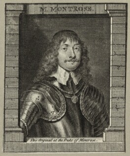 James Graham, 1st Marquess of Montrose, by George Vertue, after  William Dobson - NPG D27068