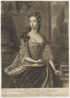 Princess Caroline Elizabeth, by John Faber Jr, after  Hans Hysing - NPG D9140