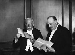 David Lloyd George; Winston Churchill, by Daily Herald - NPG x88294