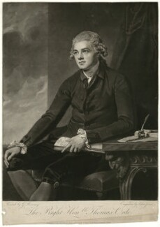 Thomas Orde-Powlett, 1st Baron Bolton, by and published by John Jones, after  George Romney - NPG D9130
