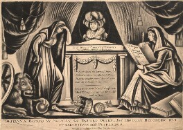 Britannia Mourning the Loss of her Late Injured Queen, and History Recording her Persecutions and Sufferings, after Unknown artist - NPG D9142