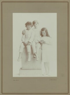 Richard Gatty; Oliver Gatty; Hester Sassoon (née Gatty), by Rita Martin - NPG x68917