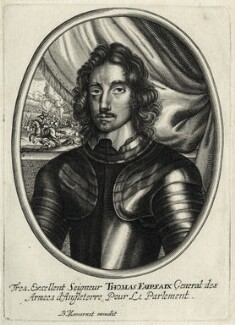 Thomas Fairfax, 3rd Lord Fairfax of Cameron, published by Balthasar Moncornet, after  Robert Walker - NPG D27103